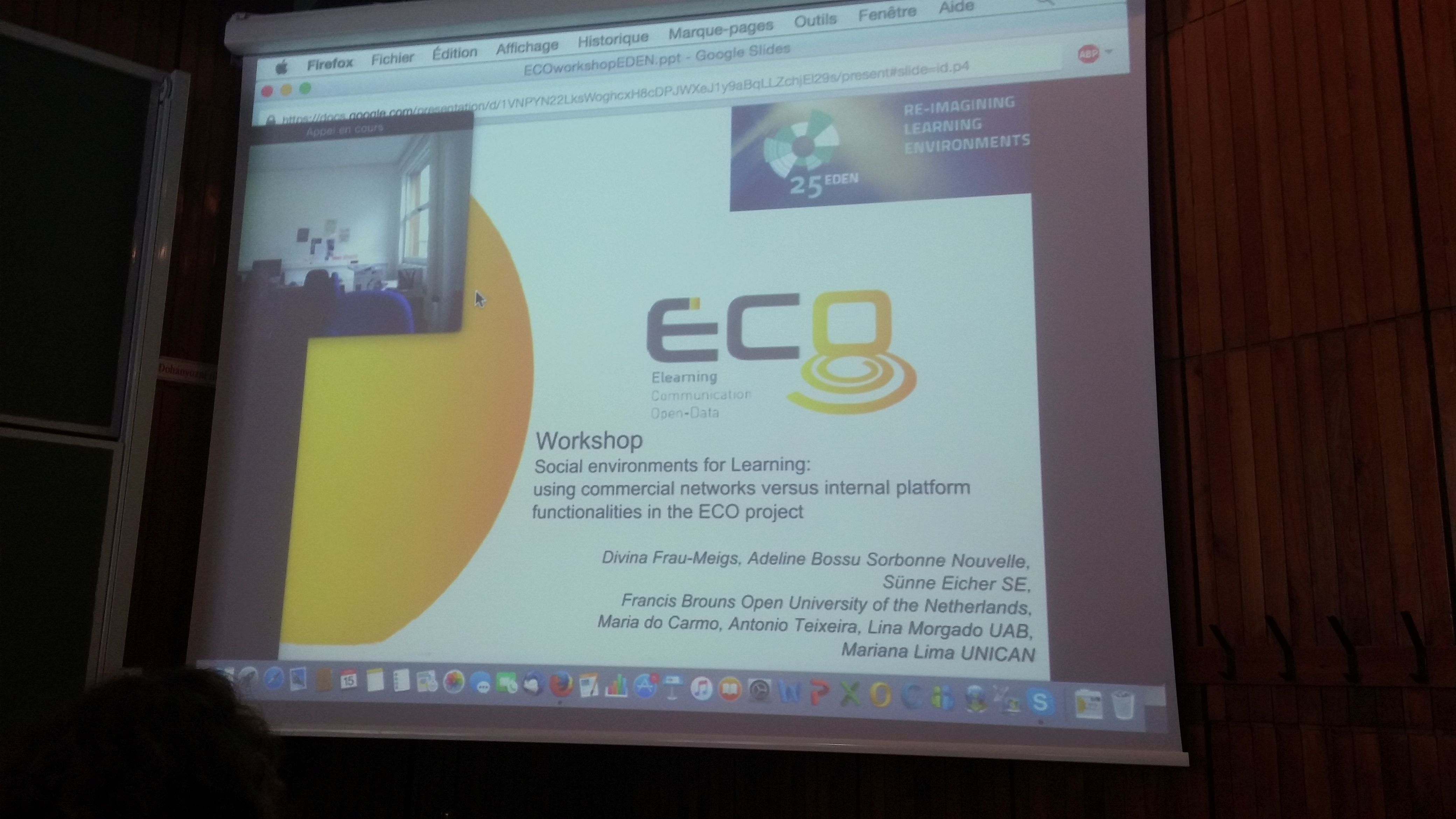 ECO at EDEN conference 2016